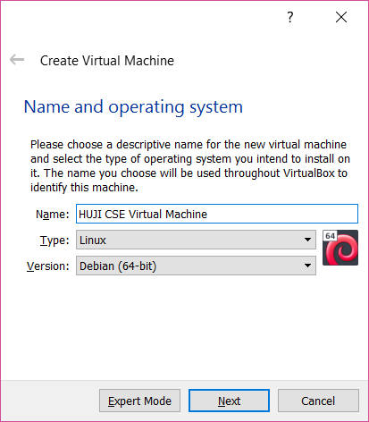 Installing Linux on a Virtual Machine - CsWiki